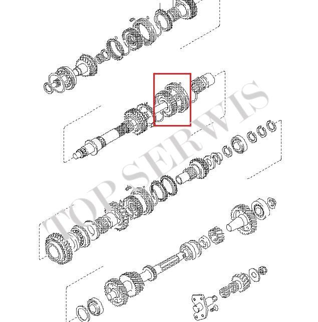 PRZESUWKA 1, 2 BIEGU 43380-4A300 (Z)